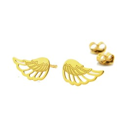 Earrings sticks wings silver gold plated