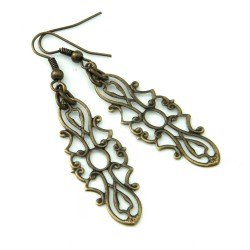 earrings openwork retro vintage