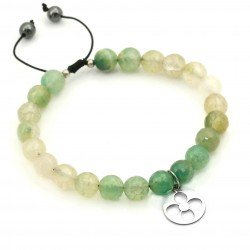 Bracelet agate with silver pendant