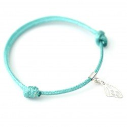 Bracelet with a rope wing butterfly silver 925