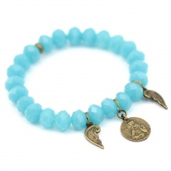 Bracelet with crystals with angel and wings