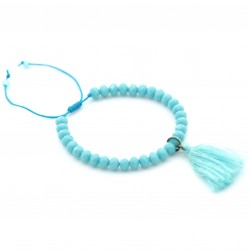 Bracelet crystals with tassel