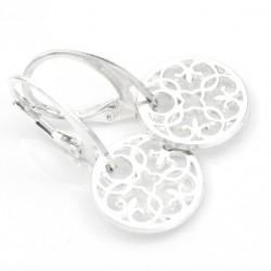 Mandala earrings - openwork rosettes