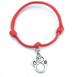 paw bracelet with string