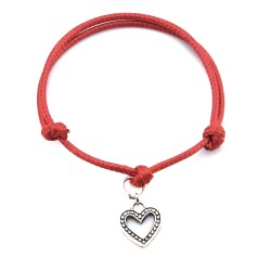 Heart bracelet with string