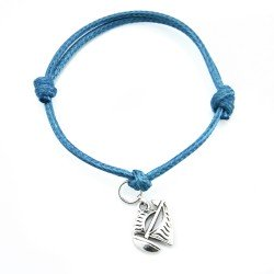 Sail boat bracelet with string