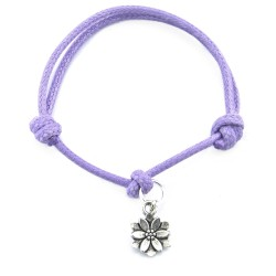 Flower bracelet with string