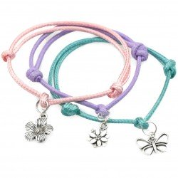 Butterfly and flowers - a set of bracelets