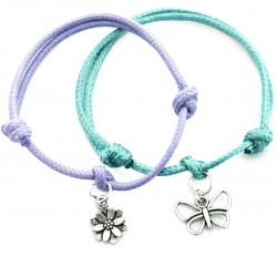 Butterfly and flower - a set of bracelets