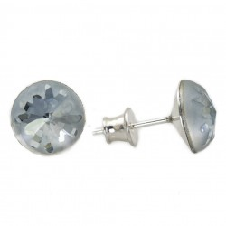 silver earrings Swarovski, sea urchins  blue shade