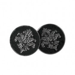 Earrings ornaments silver 925 black rodium plated