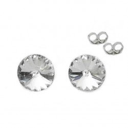 Silver earrings 5 mm Crystal - Swarovski