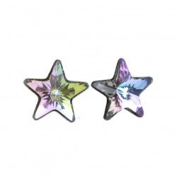 Star Earrings - Swarovski and silver