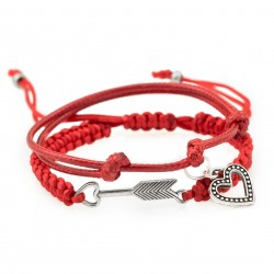 Set bracelets with heart