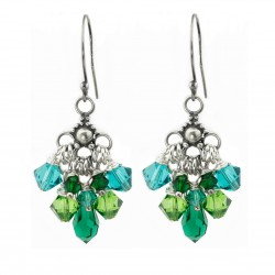 Earrings Swarovski cascade sterling silver 925