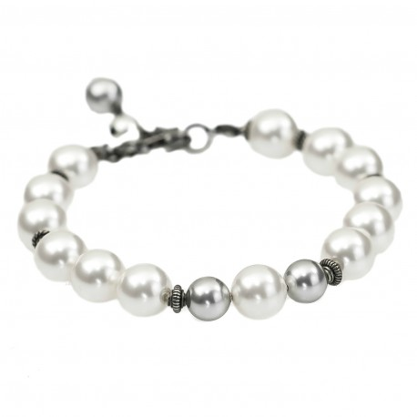 Bracelet with Swarovski pearls and silver 925