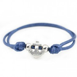 Anchor bracelet with string