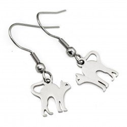 Earrings cats surgical steel