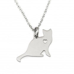 Cat necklace surgical steel
