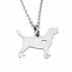 Dog necklace with surgical steel