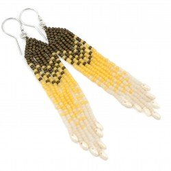 Shaded earrings - Toho and silver