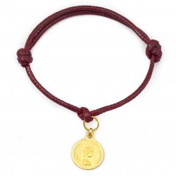 Coin bracelet with string