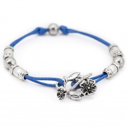 Adjustable bracelet with a rope toggle clasp