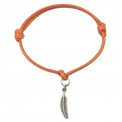 Feather bracelet with string