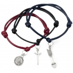 Arrow, sword and shield - a set of bracelets