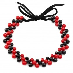 Acrylic necklace black and red