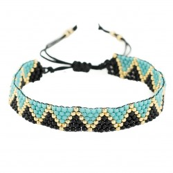 Adjustable beading bracelet