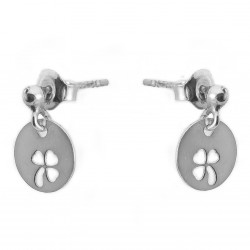 Silver earrings clovers