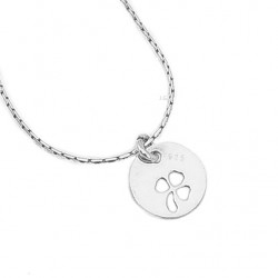 Silver chain with pendant clover