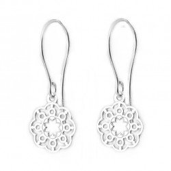 Earrings flowers silver 925