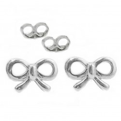 Earrings 925 silver bows sticks