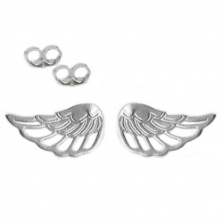Earrings sticks wings silver 925
