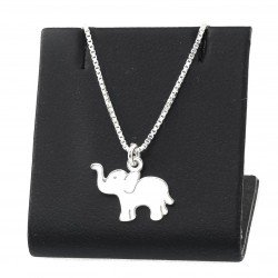 Silver necklace with an elephant  45cm