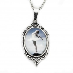 Ballet dancer necklace long photo graphic