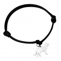 Stringed dog bracelet, Alsatian, surgical steel