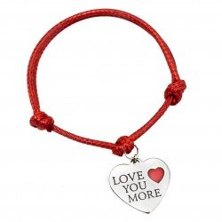 String bracelet heart love you more surgical steel
