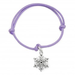 snowflake bracelet with string