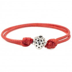 Strawberry bracelet with string
