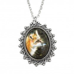 fox necklace long photo graphic