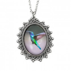 Necklace hummingbird long chain photo graphics