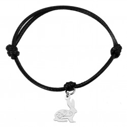 String bracelet bunny / rabbit surgical steel