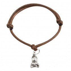 Teddy bear bracelet with string
