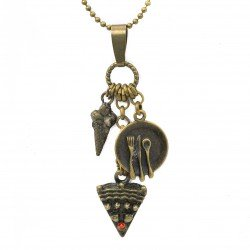 A necklace with pendants sweets