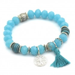 Bracelet with tassel and rosette