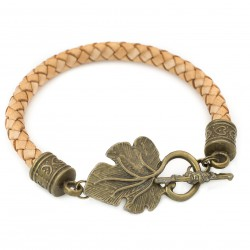 Bracelet leather strap clasp lea