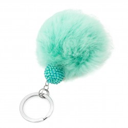Key ring with pompon and mint ball